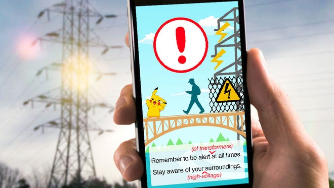 """""""Pokémon Go"""" is the latest craze in gaming, but it's causing safety concerns, too. Be alert and use common sense when playing the game to keep yourself and others safe. Pokémon and Pokémon character names are trademarks of Nintendo."""
