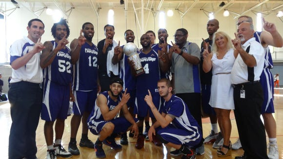 Asheville High graduate Wakefield Ellison and the Cedar Valley (Iowa) CourtKings won the inaugural Midwest Basketball League championship on Sunday.