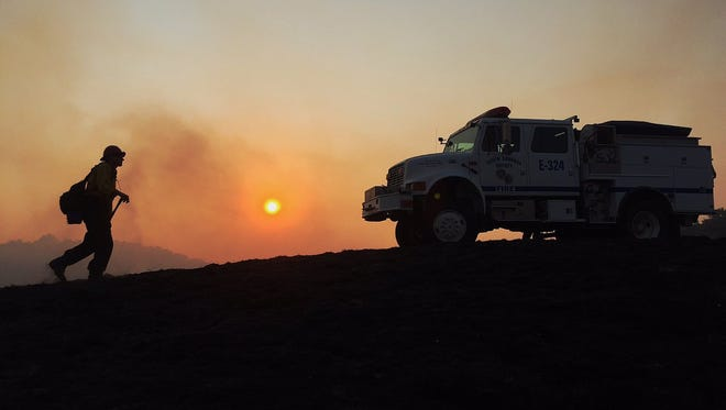 Crews continue to battle the Rey Fire in Santa Barbara County.