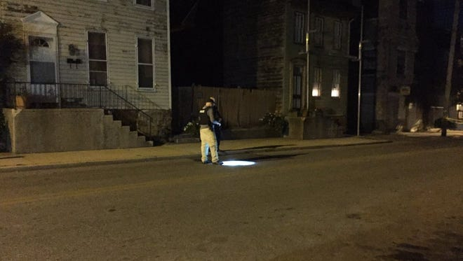 Police investigate after a man was shot in York Wednesday night in the 400 block of West Princess Street.