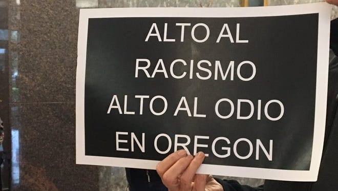 """Stop racism Stop the Hate in Oregon."""