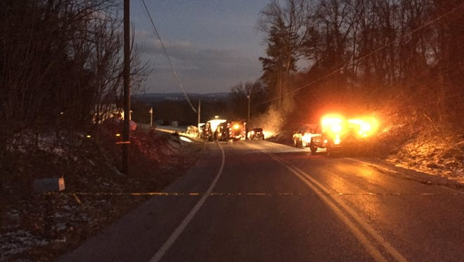 Newberry Township fire and police crews responded to Old Trail Road near Stevens Road where two people died in a car crash Saturday.