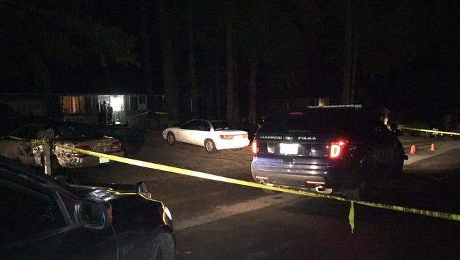 Deputies on the scene of an officer-involved shooting.