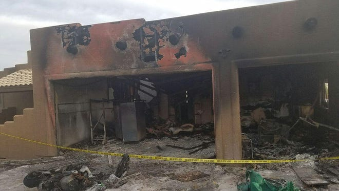 A house in Daisy Mountain caught fire early Monday morning and marijuana was found growing there, according to the Maricopa County Sheriff's Office.