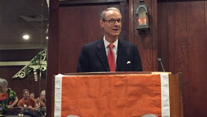 Stephen Slick, the current director of the Intelligence Studies Project at the University of Texas, spoke to San Angeloans about national security concerns.