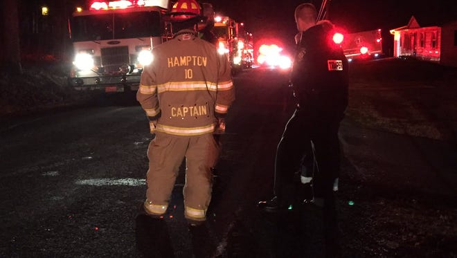 Firefighters are on the scene of a mobile home fire in Berwick Township, Adams County.