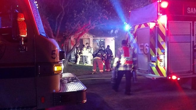 San Angelo firefighters responded to a fire at a northside home on Tuesday night.