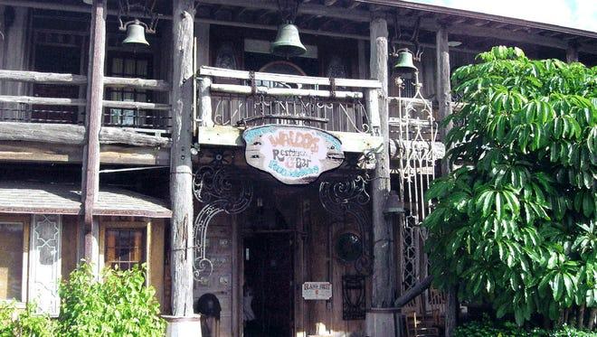 Florida Beach Bar names Waldo's at the Driftwood Inn as a favorite.