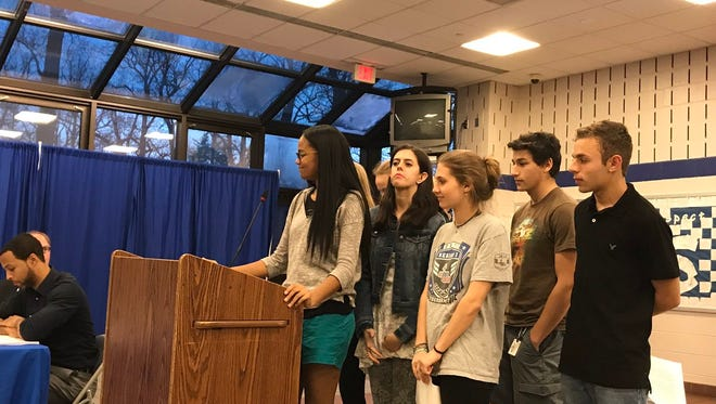 Montclair High School students addressed the Montclair Board of Education about homework policy during its meeting on April 12.