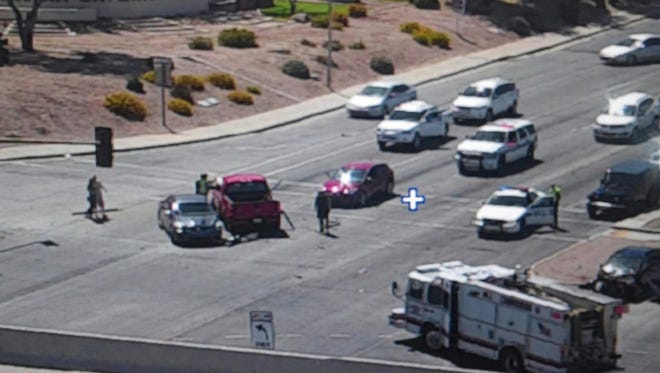 Five cars collided near Arizona Avenue and Loop 202 on April 18, 2017, in Chandler.