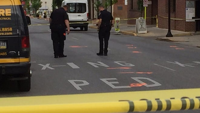 West Philadelphia Street was closed after a pedestrian was struck in York on Wednesday. A man was taken to York Hospital with serious injuries, according to police.