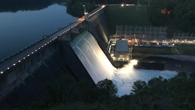 Water release at Norris Dam has been putting on quite a show for the thousands of people who have come to watch.