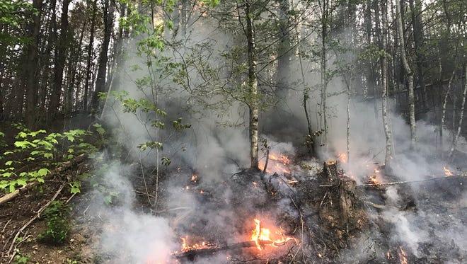 Flames on Branam Hollow, in Pittman Center near Gatlinburg