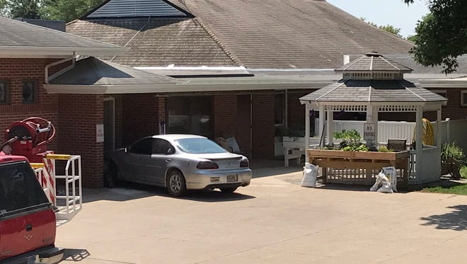 A car crashed into the Alcester Care and Rehab Center.