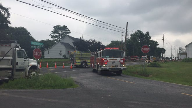 A gas leak was reported in 3700 block of Baltimore Street in Mt. Joy Township Friday morning.