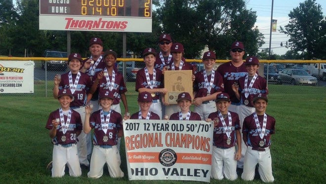 Jeffersontown 12U baseball team won the 2017 Ohio Valley Regional Tournament, earning a place in the 2017 Babe Ruth Major World Series.