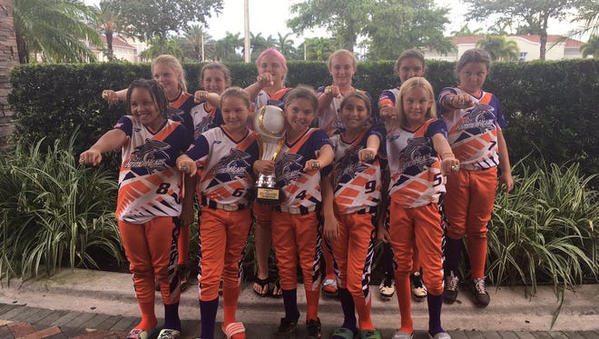 The Lady Hammerheads, a Naples-based 10U travel softball team, recently completed its season by winning the USSSA Gulf South Championship in Alabama and the South Florida state championship. Overall, the Hammerheads won four of the nine tournaments they entered this year. Team members are: Joslyn Baker, ,Angelia Discenza, Peyton Heffelfinger, Makayla Jakubuwski, Jordyn Kinn, Mack Leiti, Kayla Nazco, Abby Rascher, Molly Sullivan, Tara Watkins and Nevaeh Williams. The team is coached by Walter Rascher.