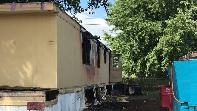 A mobile home at 3101 N. Starr Place east of the airport caught fire on Thursday morning.