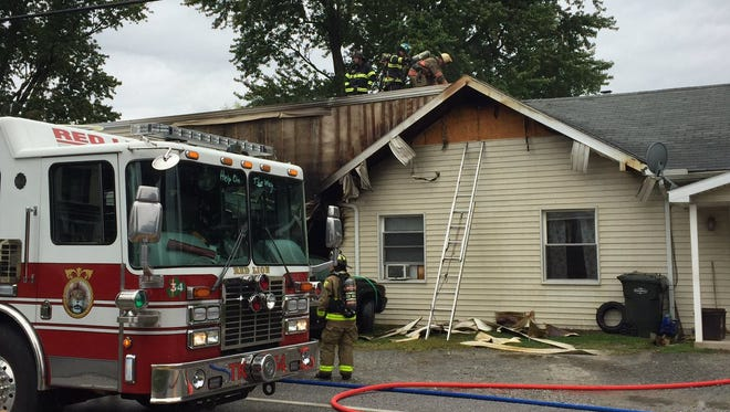 Fire crews on scene of structure fire at 2560 Freysville Road in Windsor Township on Saturday, Sept. 2. Dawn J. Sagert photo.