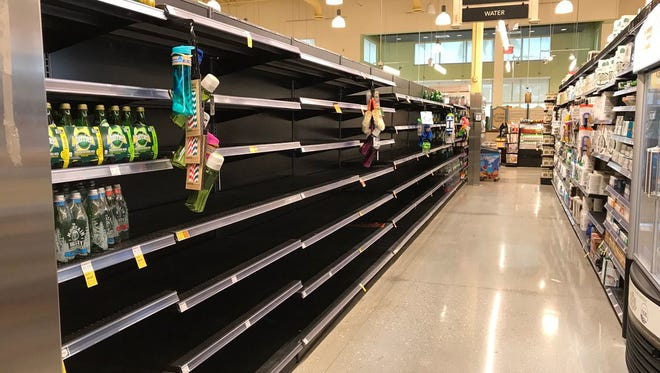 The Whole Foods in Mercato in North Naples was almost all out of water on Wednesday, Sept. 6, 2017. An employee said they expect another shipment of water .