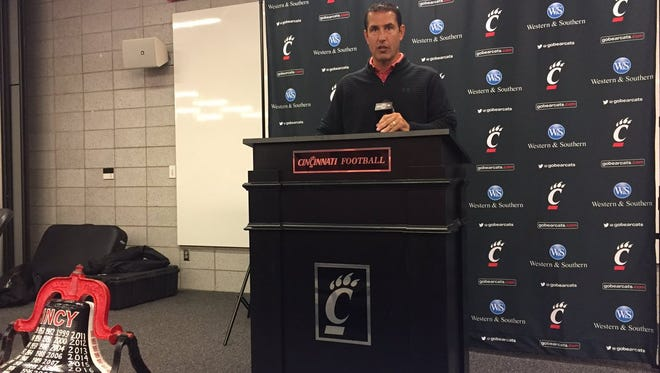 Coach Luke Fickell and the Cincinnati Bearcats will try to retain the Victory Bell for the 12th straight year at rival Miami University on Saturday.