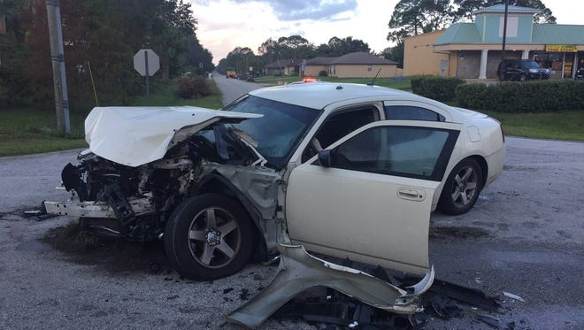 Car crash reported in Palm Bay at the intersection of Jupiter Boulevard and Lynbrook Street.