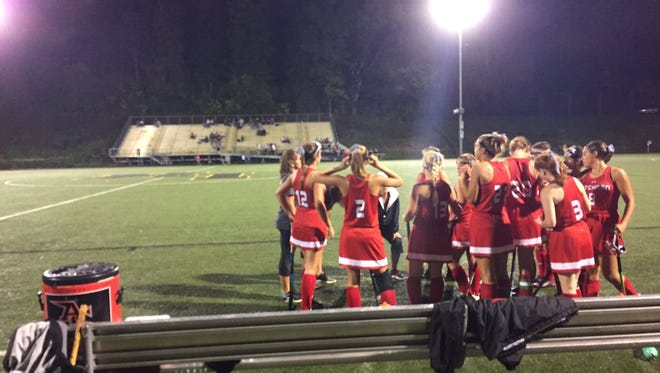 The Annville-Cleona field hockey team's hopes of clinching the Section 3 title on Thursday night were dashed by a 1-0 loss to Lancaster Mennonite.