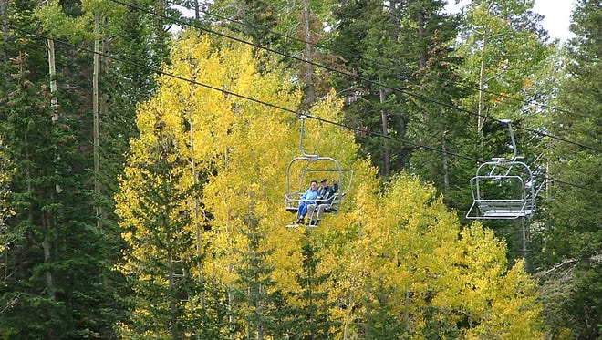 Chairlift at Arizona Snowbowl is open for fall colors viewing through Oct. 15, 2017, and weather permitting after that date.