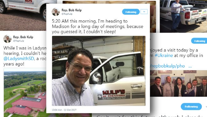 A collection of tweets by state Rep. Bob Kulp, R-Stratford.