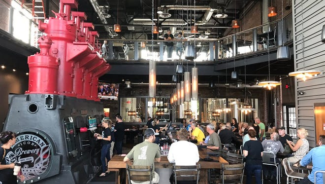 People were eager to see inside American Icon Brewery in Vero Beach, which had a soft opening Oct. 17.
