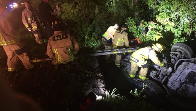 Brevard County Fire Rescue responded to a vehicle collision early Thursday.