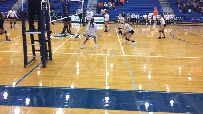 The Palmyra girls volleyball team opened the PIAA Class 3A state playoffs with a 3-0 win over Academy at Palumbo on Tuesday night at Manheim Township.