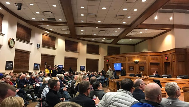 Sioux Falls residents pack the City Council chambers on Tuesday, Dec. 26.