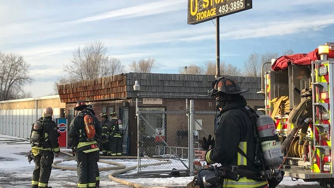 Poudre Fire Authority crews responded to a reported fire at U Stuff It  on East Mulberry in Fort Collins on Wednesday.