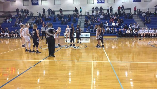 The Lebanon Catholic girls basketball team edged Manheim Township 61-59 in a Lancaster-Lebanon League playoff quarterfinal on Saturday night.