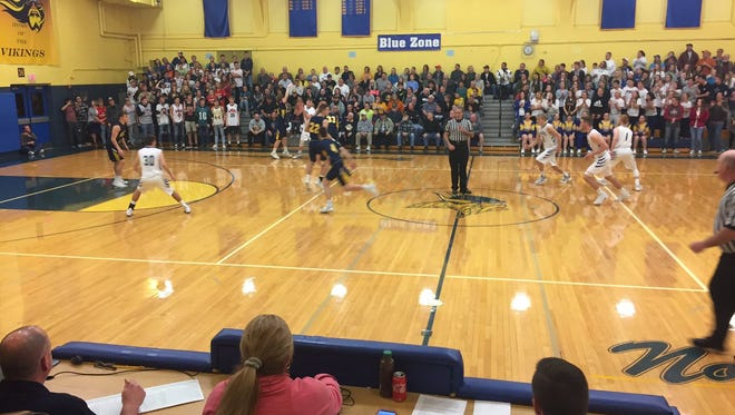 It was a packed house at Northern Lebanon Monday night to see the host Vikings defeat Elco 74-65 in the first round of the District 3 4A playoffs.