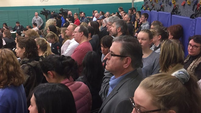 Members of an overflow crowd voiced concerns about school safety at Tuesday night's meeting of Cherry Hill's Board of Education.