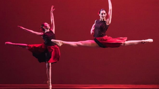 Nicole Cullis and Alexandra Bisignaro, members of the Vineland Regional Dance Company, will perform in the company's annual Spring Dance Concert at 2 p.m. March 11 in the Frank Guaracini Jr. Fine and Performing Arts Center at Cumberland County College at 3322 College Drive in Vineland.