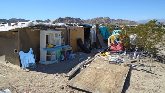 Mona Kirk & Daniel Panico arrested for willful cruelty to a child after deputies discover the family's living conditions  in the 7000 block of Sun Fair Road in Joshua Tree.