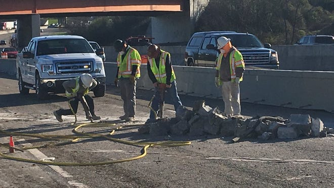 Weekend bridge repairs on Interstate 40 that frustrated commuters at the end of last week have been delayed due to bad weather.
