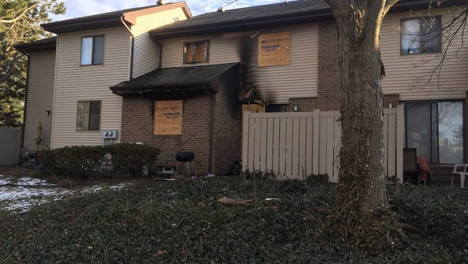 The Lansing Fire Department responded Saturday to a fire inside a townhouse at Lenawee and Butler streets.