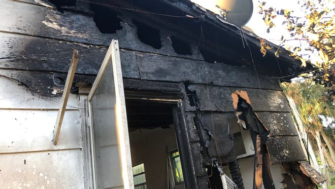 Firefighters responded to a structure fire in Cocoa Thursday morning.