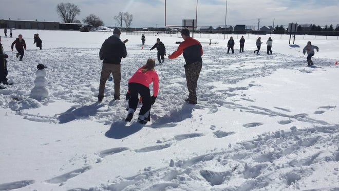 The Palmyra softball team didn't let the snow that plagued the area in early spring keep it from getting outside to practice.