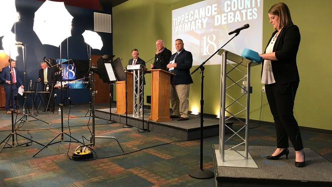 Three candidates for Tippecanoe County sheriff debated Tuesday, April 10.