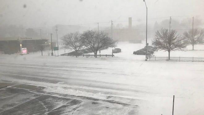 Sioux Falls snowstorm, April 14, 2018.