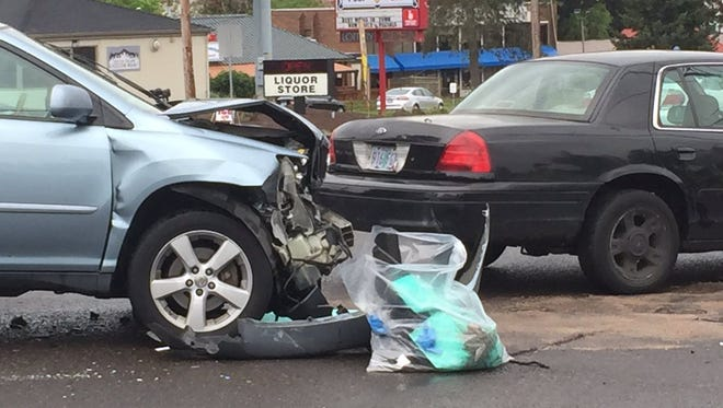 A crash at Commercial Street SE and Ratcliff Drive SE blocked a lane of traffic in Salem.