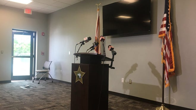 Brevard County Sheriff Wayne Ivey holds press conference.
