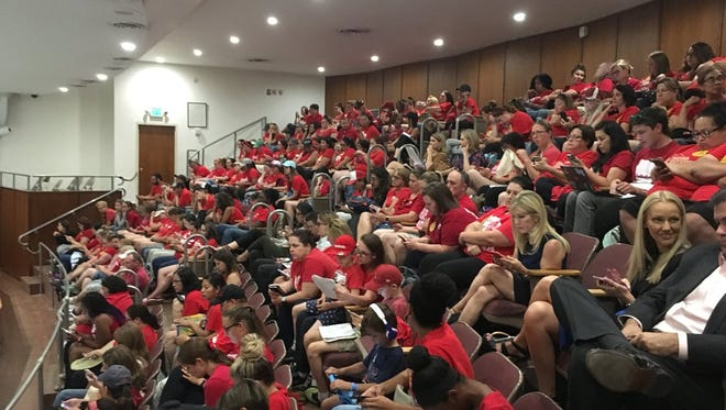 Back in May #RedforEd supporters, most of them teachers, filled the gallery at the Arizona House of Representatives.