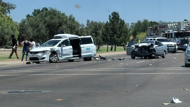A Waymo van was involved in a Chandler vehicle accident on May 4, 2018.