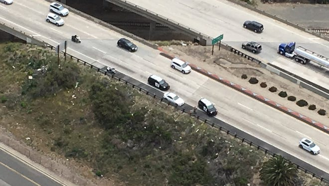 One person was cited and released Monday in Ventura after an attempted traffic stop by a California Highway Patrol officer led to a vehicle pursuit.